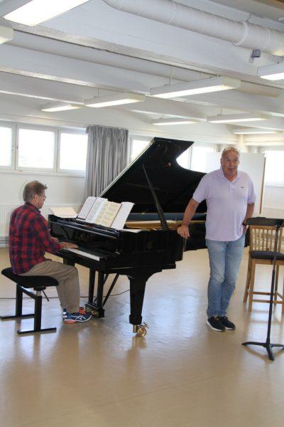 Andreas ja Matti harjoittelevat